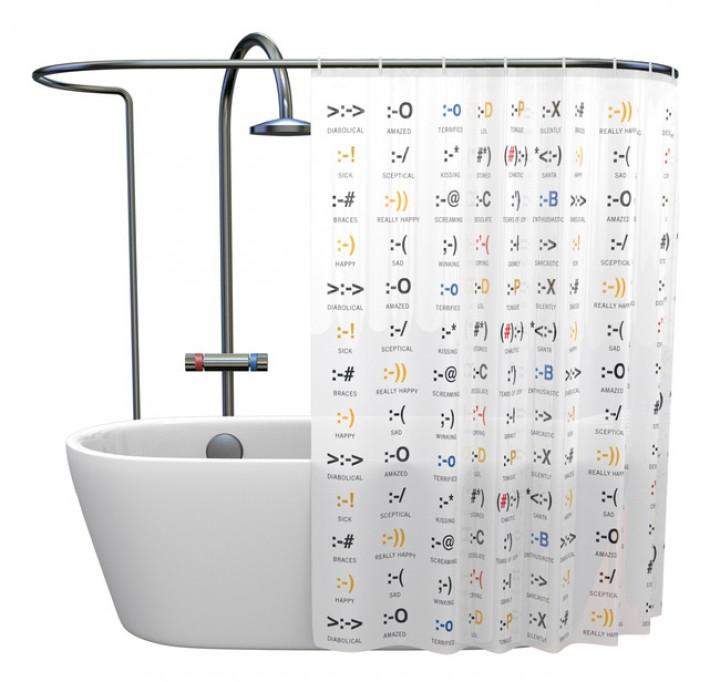 duschvorhang emoticons gadgets gadgets. Black Bedroom Furniture Sets. Home Design Ideas